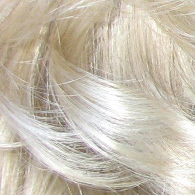 Platinum beige blonde with light platinum blonde highlights.